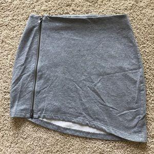 B.B. Dakota Asymmetrical Zipper Front Skirt
